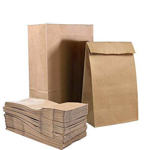 100 X Papiersackerl Braun, Verdicken Brottüten Süßigkeiten Geschenktüten Papiertüte Klein Kinderparty Weihnachten Papiertaschen Geburtstage Mittagessen Brottasche 0.8 lb