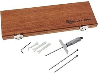 Brown & Sharpe 599-603-123-3 Vernier Depth Gauge, Micrometer Type, 0-3