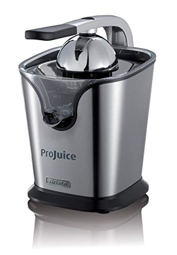Ariete 411 ProJuice 4615 Airy Fryer Mini Minifritteuse, 1000, Kunststoff, 2 liters, gelb, 160, silber