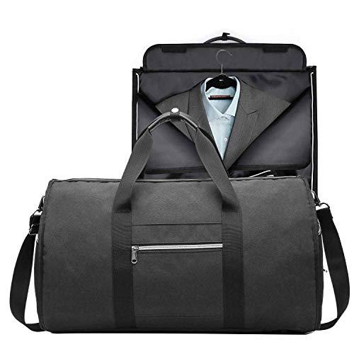 Neuleben Reisetasche Anzugtasche Kleidersack Sporttasche Wasserabweisend Faltbar Damen Herren für Reise Sport Flugzeug (Schwarz)