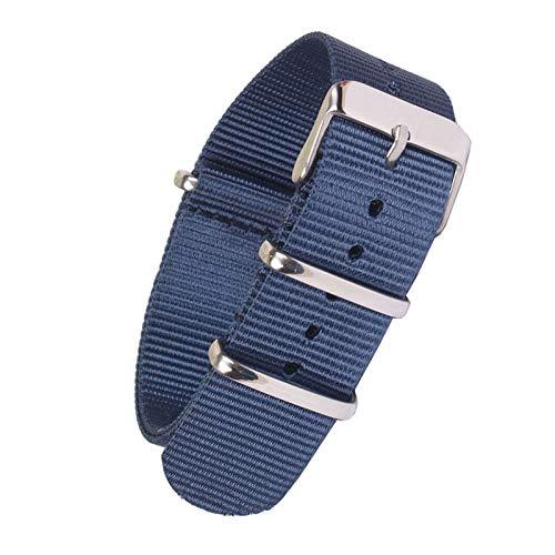 18mm 20mm 22mm Color sólido Correa de Nylon Correa de Reloj de Pulsera de la OTAN Band Hebilla del Acero Inoxidable, 20mm