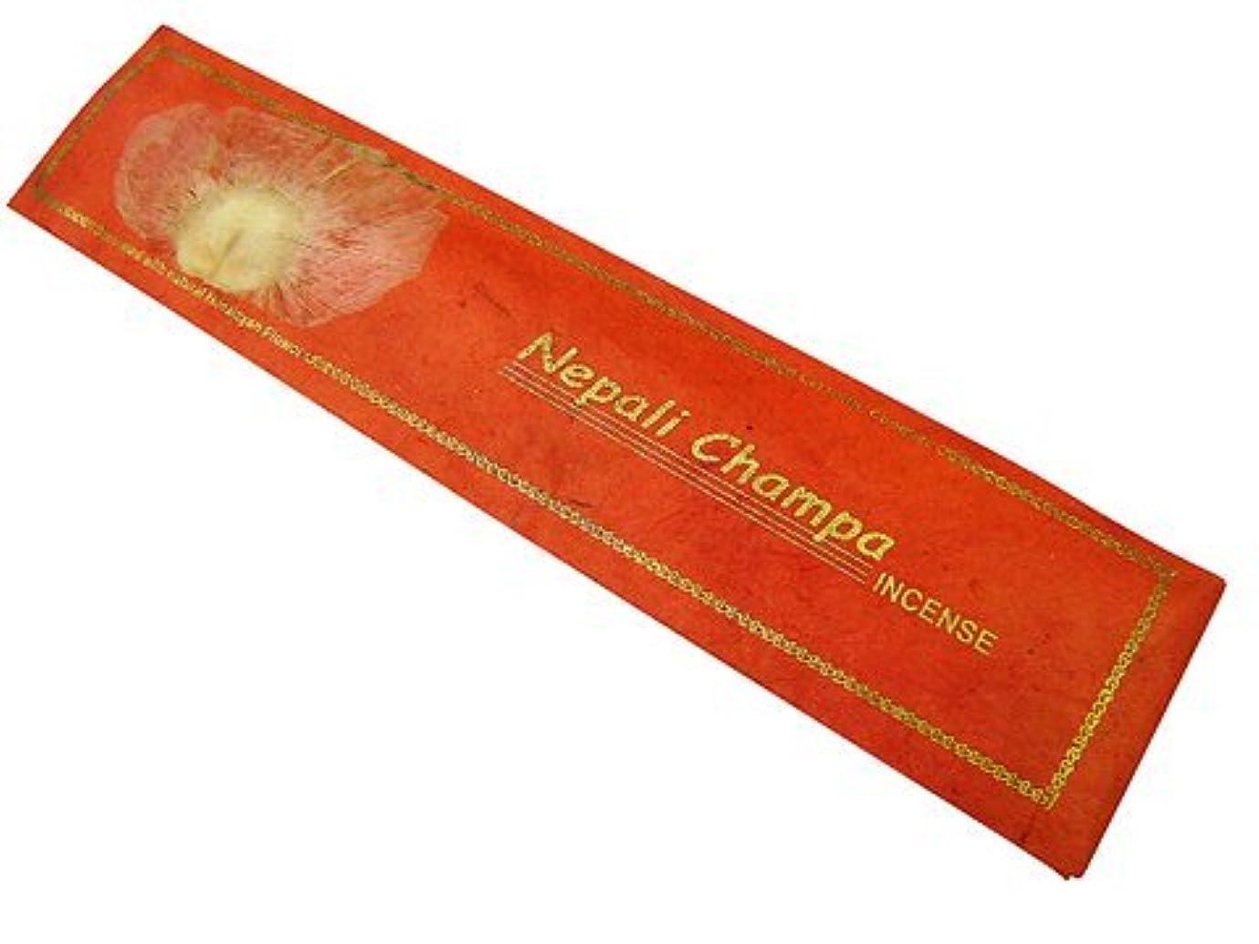 望ましい不平を言うサイズNEPAL INCENSE ネパールのロクタ紙にヒマラヤの押し花のお香【Nepali Champaネパリチャンパ】 スティック