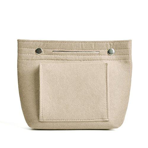 NOTAG Organizer Filz Taschen Innentaschen Für Handtaschen Make Up Tasche Filz Kleine LeichteTaschenorganizer Handtasche (Beige)