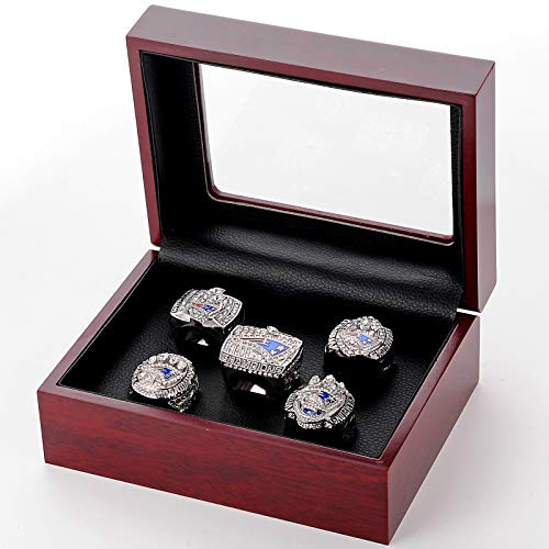 WOCTP American Football Champion Rings Patriots 2001 2003 2017 5-teiliges Set, Rugby-Ventilator Super Bowl Collection Collection Ring Männer Souvenirs