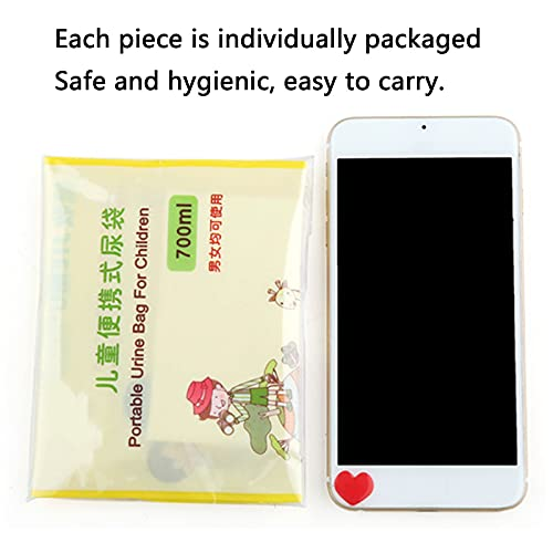 GYAM 8Pcs 700ml Child Portable Disposable Urine Bags, Emergency Pee Bags, Absorbent Sealable Vomit Bags for Camping Travel Climbing Traffic Jam