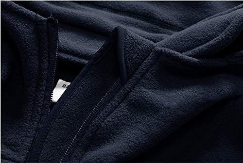 TACVASEN Windproof Men's Military Fleece Combat Jacket Tactical Hoodies, Navy Blue, XXL