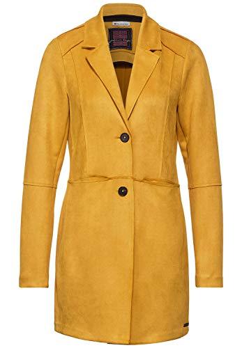 Street One Damen Velours-Indoormantel Amber Yellow 40