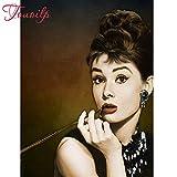 PYuKK 5D-DIY-Diamante Pintura Maquillaje Mujer Estrella decoración Diamante Bordado Mosaico Punto de Cruz Kit Mejor Regalo Obra de Arte sin Marco -40x50cm