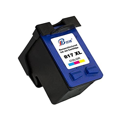 Reemplazo de Cartucho de Tinta Compatible para HP 816XL 817XL, Adecuado para HP PSC 1110 1210 1315 OfficeJet 4255 4355 5600 5608 5610 5679 etc. Impresoras de inyección de Tinta,Tricolor