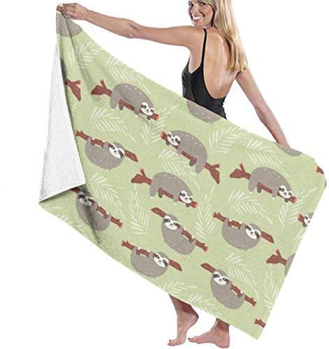 Beach Towel,Soft Super Absorbent Lightweight Bath Towel Cute Sloth Bath Towel Adult Soft Microfiber Printed Beach Towels Travel Towel Bath Towels Suitable For Children And Adults130*80cm