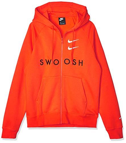 Nike Felpa da Uomo Arancione (Team Orange)/Nero/Bianco XS
