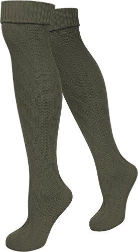 normani Trachtenkniestrümpfe Kniebundhosen Strümpfe auch in Übergröße Farbe Loden Größe 43/46