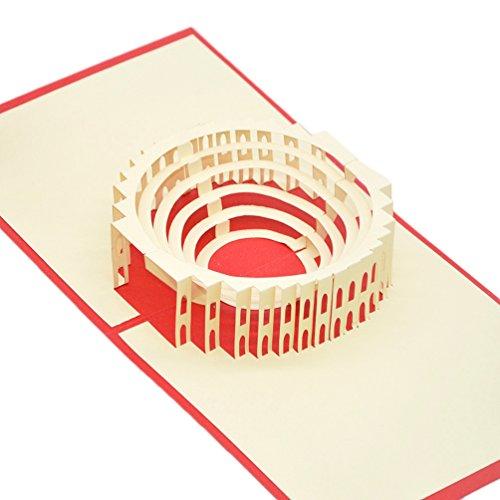 medigy 3d Pop Up felicitaciones Tarjeta de felicitación para la mayoría de occastions, el Coliseo Romano