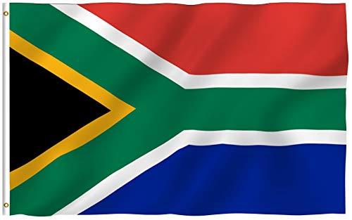 ANLEY Fly Breeze 3x5 Foot (90x150 cm) Zuid-Afrikaanse vlag - Levendige kleuren en UV-vervagend - Canvaskop en dubbel gestikt - Zuid-Afrikaanse nationale vlaggen Polyester met messing oogjes 3 X 5 Ft