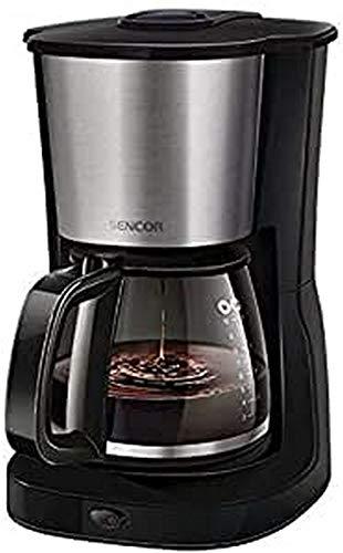 SENCOR 8590669195183 SCE 3050SS filtr, ekspres do kawy ze szklanym dzbankiem, czarny