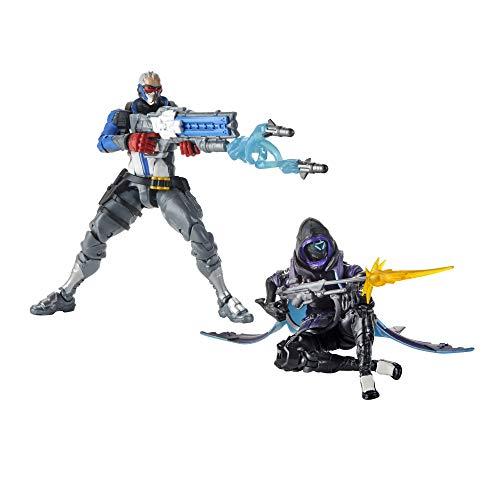 Hasbro Overwatch Ultimates Series Soldier 76 e Shrike Action Figure da Collezione da 15 cm con Accessori, Doppia Pelle, Ispirati al Videogioco