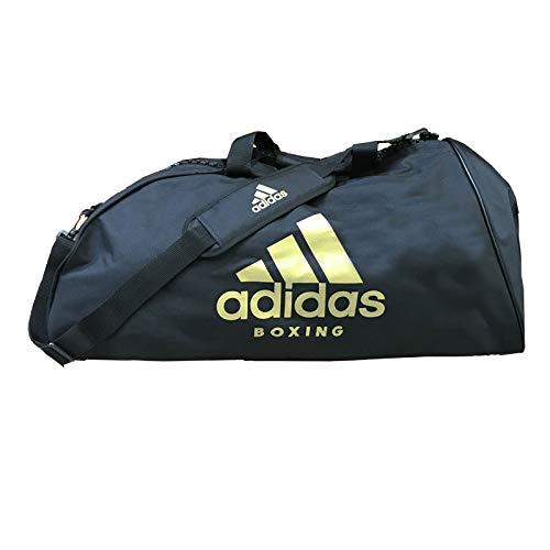 adidas Erwachsene Sports Bag Shoulder Strap L Boxing Sporttasche, schwarz/Gold, 723434 cm