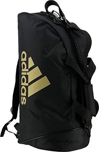 adidas 2in1 Bag Bolsa de Gimnasio, Unisex Adulto, Negro y Dorado, Small