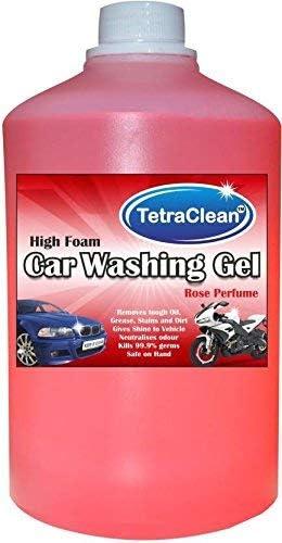 Tetraclean High Foam Car Shampoo Car Washing Liquid- Rose Scented (1 L)