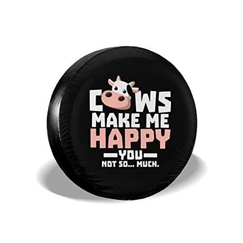WCHAO Las Vacas me Hacen Feliz, no Tanto, neumático de Repuesto, Cubierta Tipo Rueda, Universal