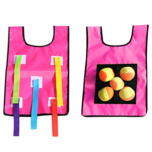 Sapphero Tennis Random Color Dodgeball Tag Sticky Vest Outdoor Throwing Game met ballen voor kinderen kinderen kinderen Outdoor Activity Game