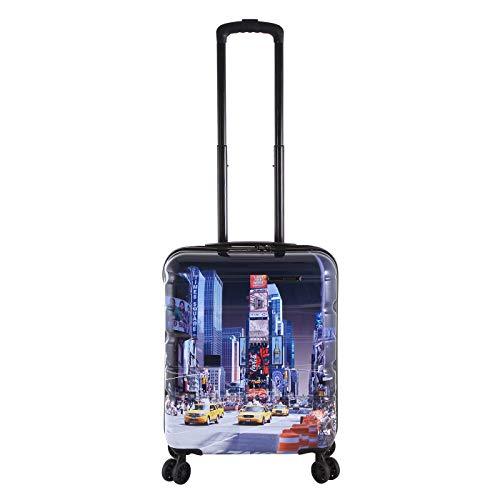 Rada Aero Vortex Reisekoffer, Hartschale aus ABS, klein, mittel, groß, Kofferset, Trolley mit Motiv, TSA-Schloss und 4 Rollen (Taxi, Handgepäck   52 cm)