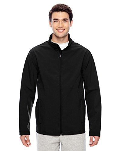 Team 365 Men's Leader Soft Shell Jacket, 4XL, BLACK