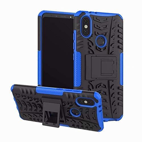 Capa Capinha Anti Impacto Para Xiaomi Mi A2 5.99Case Armadura Hybrid Reforçada Com Desenho De Pneu - Danet (Azul)