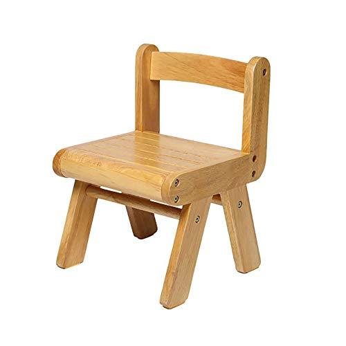 KOIUJ Trittschemel Solide, handgemachte Kindergarten Stuhl mit Rückenlehne Reines Massivholz for Küche, Schlafzimmer, Wohnzimmer, oder Badezimmer (Farbe: Log-Farbe)