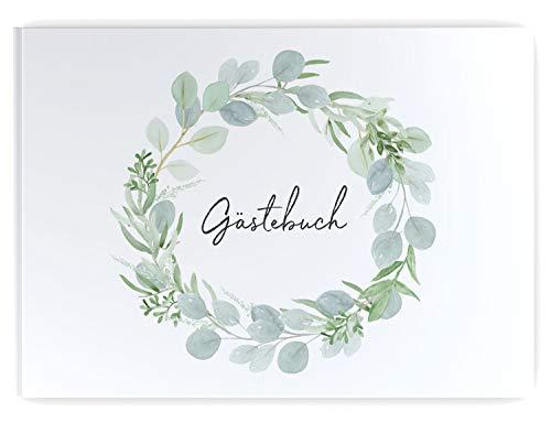 DeinWeddingshop Gästebuch Hochzeit | 104 Seiten | Hardcover DIN-A4 - ohne Fragen blanko |...
