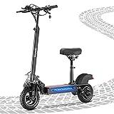Patinete Electrico iSinwheel iX5 - Largo Alcance 40 KM, Velocidad Máxima hasta 45 KM / H, Neumáticos Todoterreno de 10 '' Motor de 600W con Asiento Patinete Eléctrico Adultos