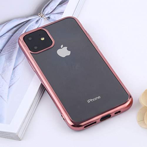 JIANWU CAS de couverture, Transparente TPU Anti-Gota y el teléfono móvil Impermeable Protectora for el iPhone Pro 11 (2019) (Oro) (Color : Rose Gold)