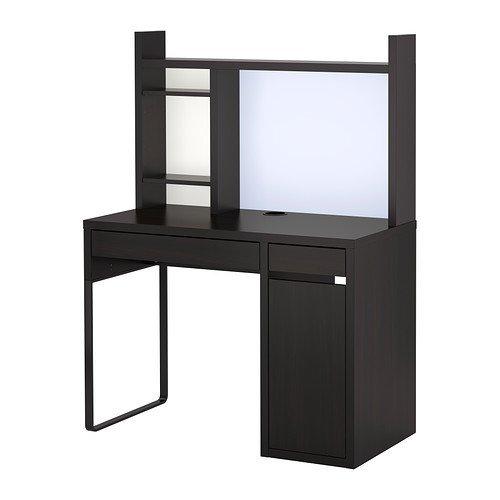 IKEA(イケア) MICKE ワークステーション, ブラックブラウン (69926748) (699.267.48)