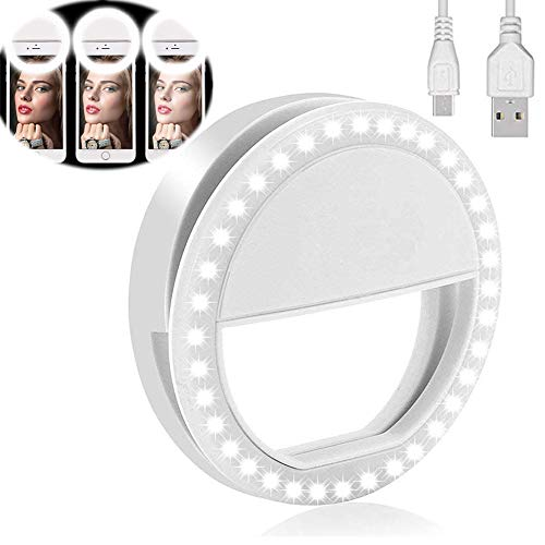 avis appareil photo sur telephone portable professionnel Yojoloin Selfie Ring pour tous les téléphones mobiles [Rechargable] [4 Perfect Mode]                                                                                                                                                                                                                                                                36 LED…