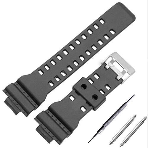 #N/V Repuesto de correa de reloj de cuero de repuesto para correa de reloj de 16 mm