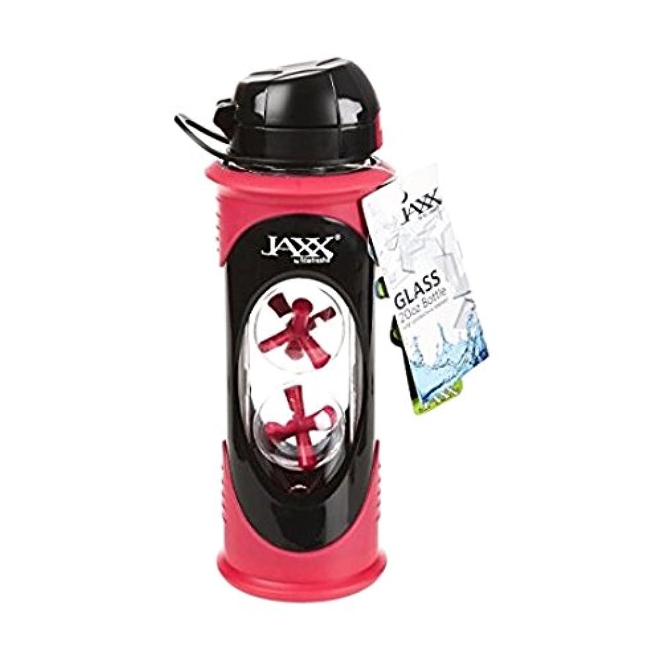 甲虫八百屋さん作りFit & Fresh Jaxx Glass Bottle, 20 oz, Pink by Fit & Fresh