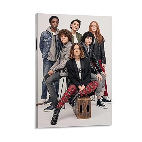 Stranger Things - Poster su tela e stampa artistica da parete con immagine della serie TV, 40 x 60 cm