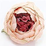 Flores Artificial 5 Piezas 8 Cm Brote Artificial Corazón Peonía Cabezas De Flores Seda Rosa Fiesta De Boda Decoración Flor Pared Arreglo Accesorios Foto Accesorios 13