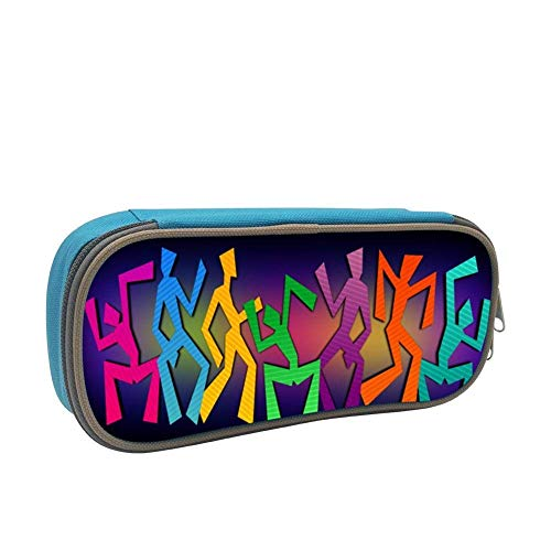 Simple Wacky Dancers Clip Art Pen Bag with Zipper Pouch Holder School Stationery Office Pencil Case Buggy Boys Girls