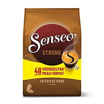 Douwe Egberts, Senseo, Strong Roast, 48 Pods/Pads, Full and Rich Coffee, Dual Pack