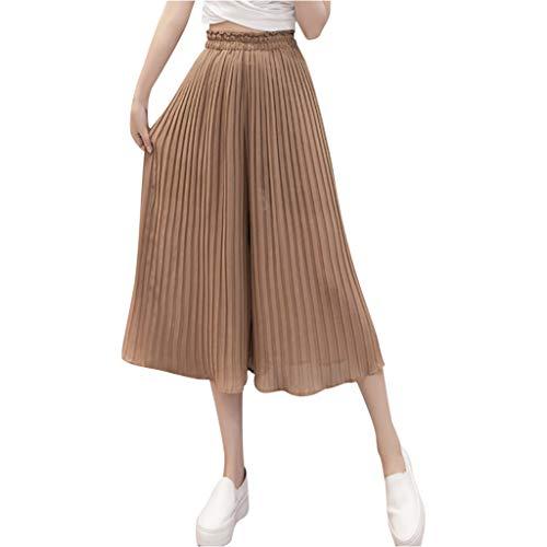Longzjhd - Pantalones de moda para mujer, pantalones elásticos y elásticos, para yoga, talla alta caqui M