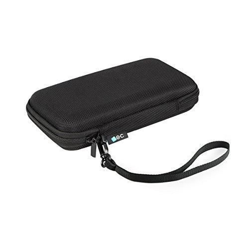EC TECHNOLOGY iEC Housse de Protection pour Batterie Externe 22400mAh, Batterie Externe Anker 20000mAh/16000mAh, MP3/MP4, Disque Dur USB, SD/TF Cards, Câbles avec Pochette à l'intérieur - Noir