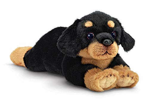 Bearington Gunner Rottweiler Plush Stuffed Animal Puppy Dog, 15 inches