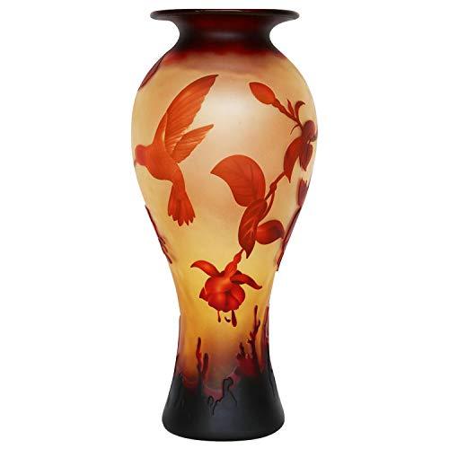 aubaho Vase Replika nach Galle Gallé Glasvase Glas Antik-Jugendstil-Stil Kopie g