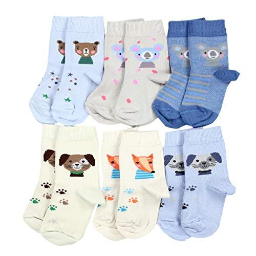 TupTam Kinder Socken Bunt Gemustert 6er Pack für Mädchen und Jungen, Farbe: Junge 7, Socken Größe: 16-18