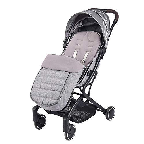 SONARIN Universal Premium Fußsack für Kinderwagen,Wasserdicht und winddicht,weicher Deluxe ThermoFleece,Cosy Toes,für Jogger, Buggy(Grau)