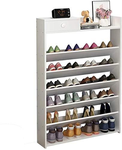 Ranura de calzado ajustable Organizador de zapatos Estante de zapatos El gabinete...