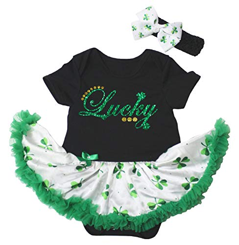 Petitebelle - Robe bébé porte-bonheur Nb-18m - Vert - M