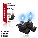 2x HIR2 (also known as 9012 bulb) AMIO Ultra - High Performance Halogen Headlight Bulb, High Beam, Low Beam...
