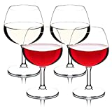 CYKK Lot de 2 verres à vin en plastique avec cristal 640 ml incassable et réutilisables sans BPA Lot de 4.